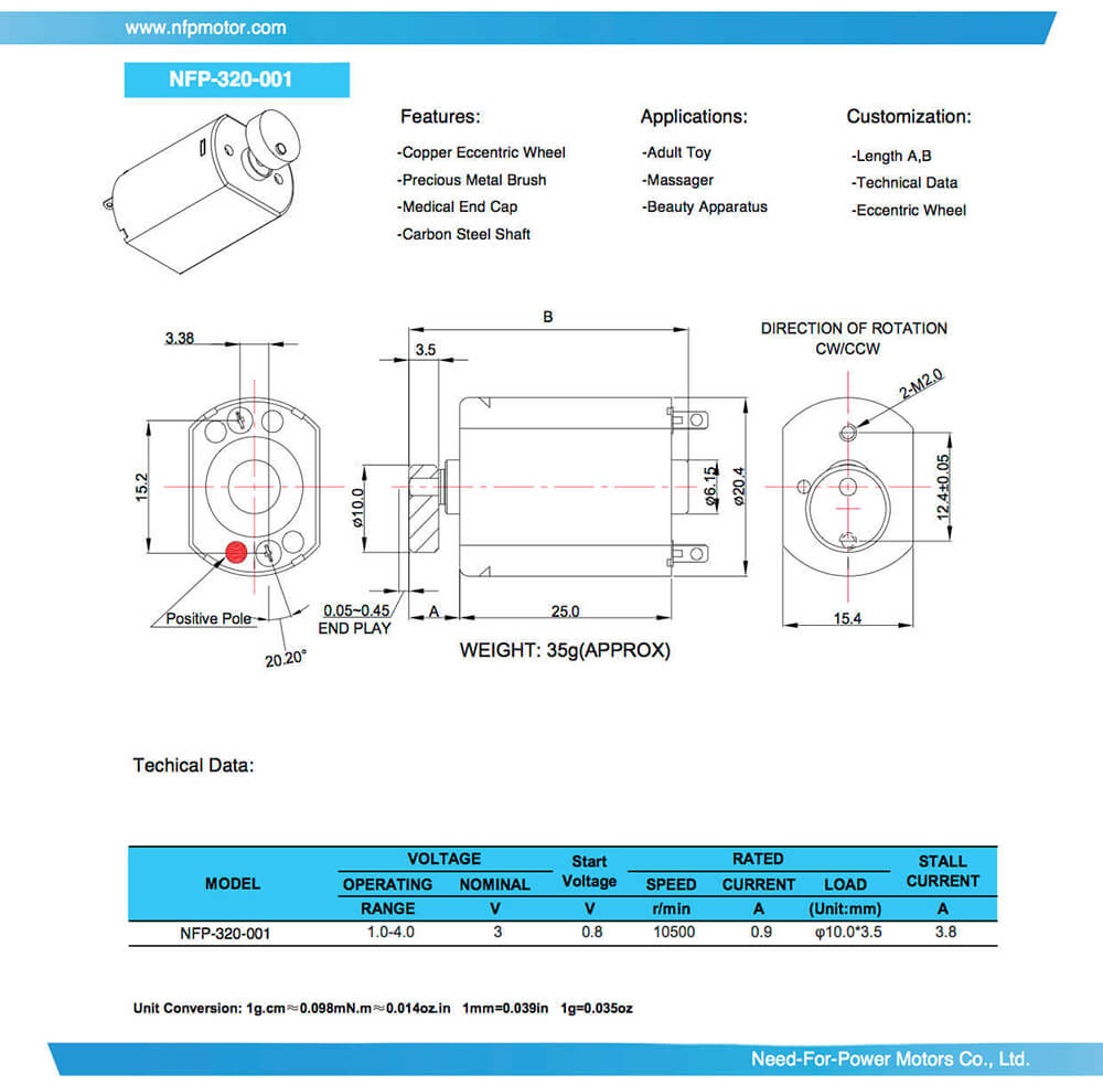 small-vibration-motor-NFP-320-001