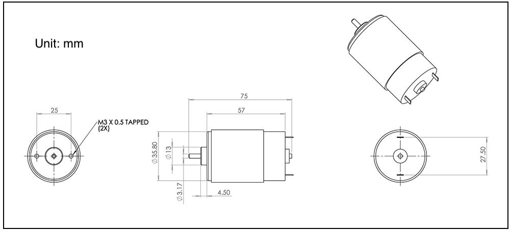 545-motor-NFP-RK-545SH-5015