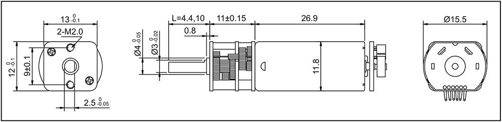 brushed-gear-motor-gm13-050sh-encoder